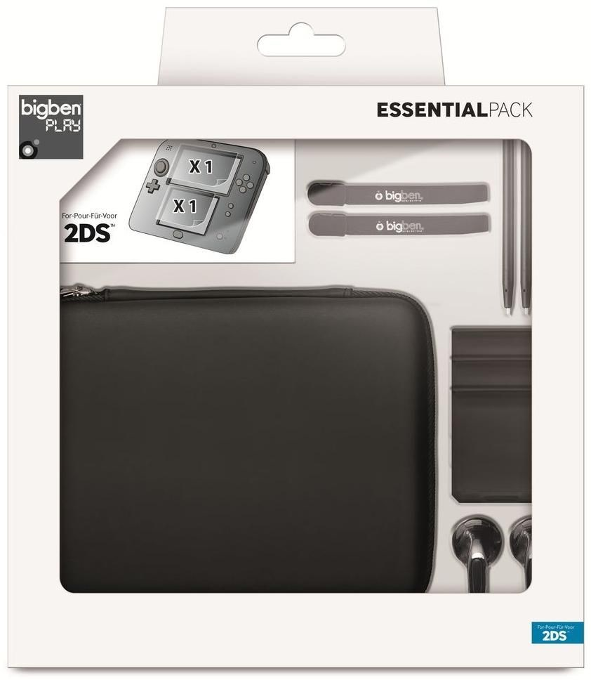Full pack bigben essential 2ds nintendo 3ds accessories for Housse 2ds bigben