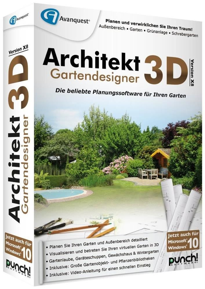 avanquest architekt 3d x8 gartendesigner pc 3d planer. Black Bedroom Furniture Sets. Home Design Ideas
