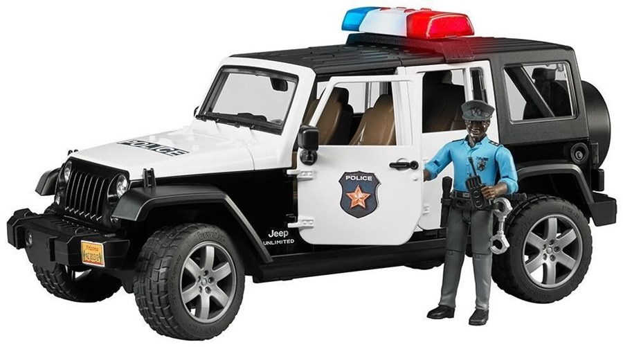 Bruder 02527 Jeep Wrangler UR Polizei+Polizist dunkel