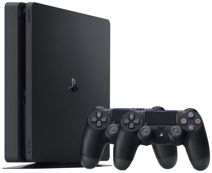 sony playstation 4 slim 1tb 2 controller sony. Black Bedroom Furniture Sets. Home Design Ideas