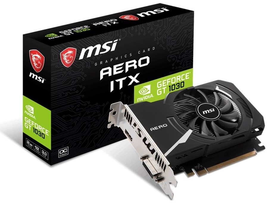MSI GeForce GT 1030 AERO ITX OC 2GB - PCI Express Graphics Cards ...